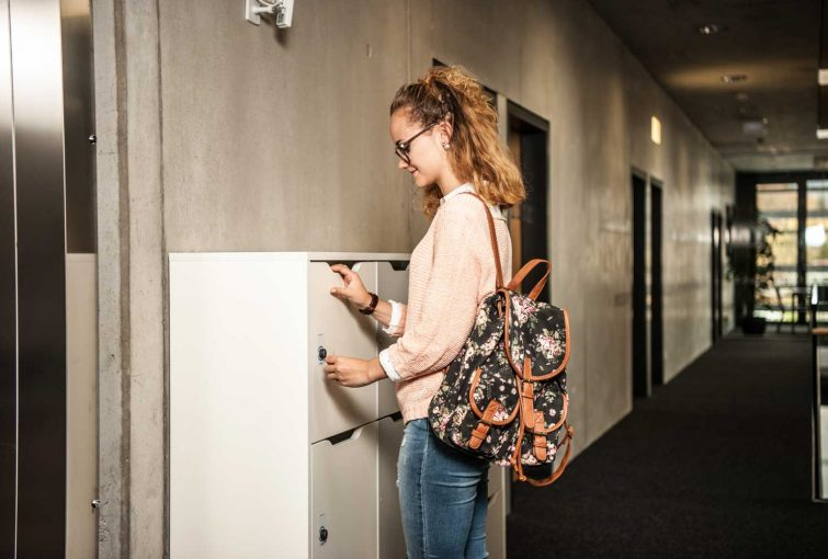 Secure, smart lockers for students